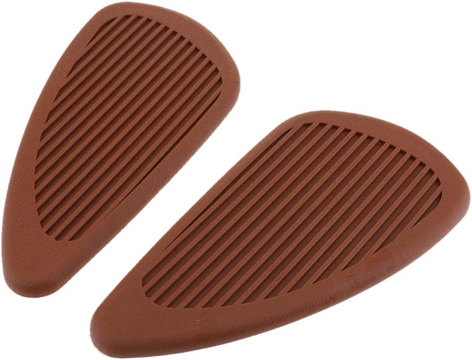 D DOLITY 1 Pair Gas Fuel Tank Traction Pad Side Gas Knee Grips for Honda CBR 600 1000 RR CB400 Motorcycle Universal Brown