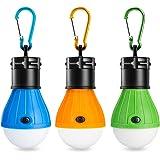 Eletorot LED Campinglampe Zeltlampe Glühbirne Set-Notlicht COB150 Lumen für Camping, Abenteuer,Angeln, Garage, Notfall, Stromausfall wasserdicht, 3 Stücke