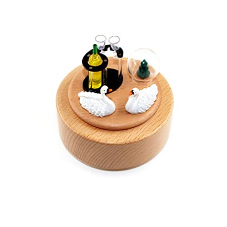 Wood Music Box Carousel Swan Music Box Wooden Crafts Wedding