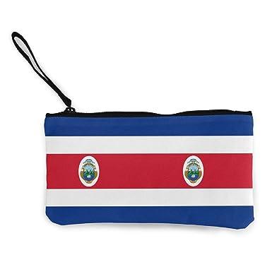 Amazon.com: Costa Rica - Monedero de lona con cremallera ...