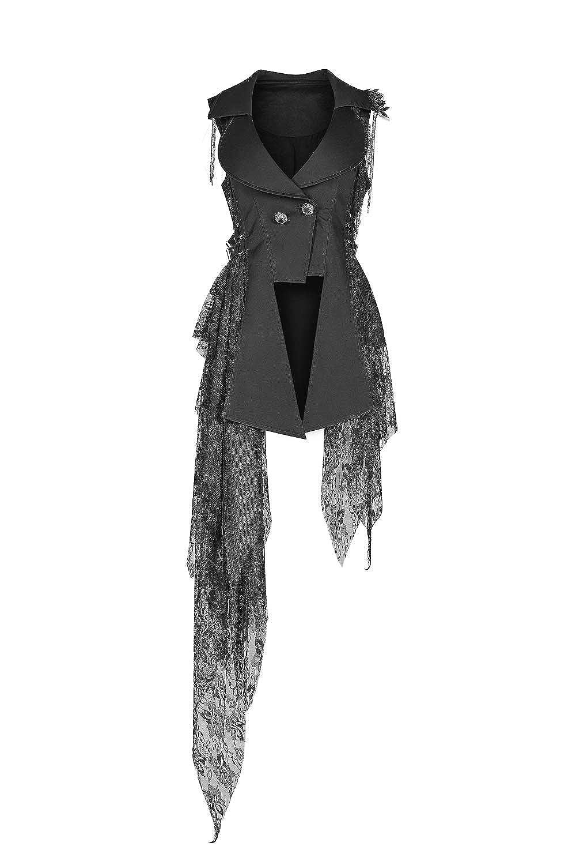 Punk Rave Colore: Nero Stile Gotico Gilet a Maniche Lunghe da Donna