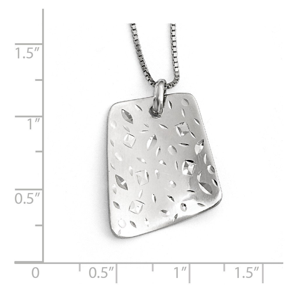 20mm 925 Sterling Silver Radiant Essence Sparkle-Cut Pendant