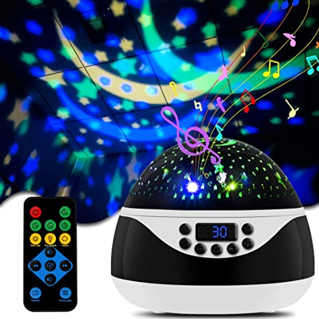 Amazon.com: CrazyFire Star Night Lights Projector For Kids, Baby Night Light With Timer & Music And Remote Control, 8 Light Color Changing Starry Projector Light For Kids Baby Bedroom Nursery Decor: Home