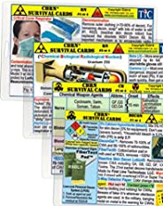 CBRN (Chemical - Biological - Radiological - Nuclear) Survival Card Training Quick Reference Guide - 4 card set - Large 3.5