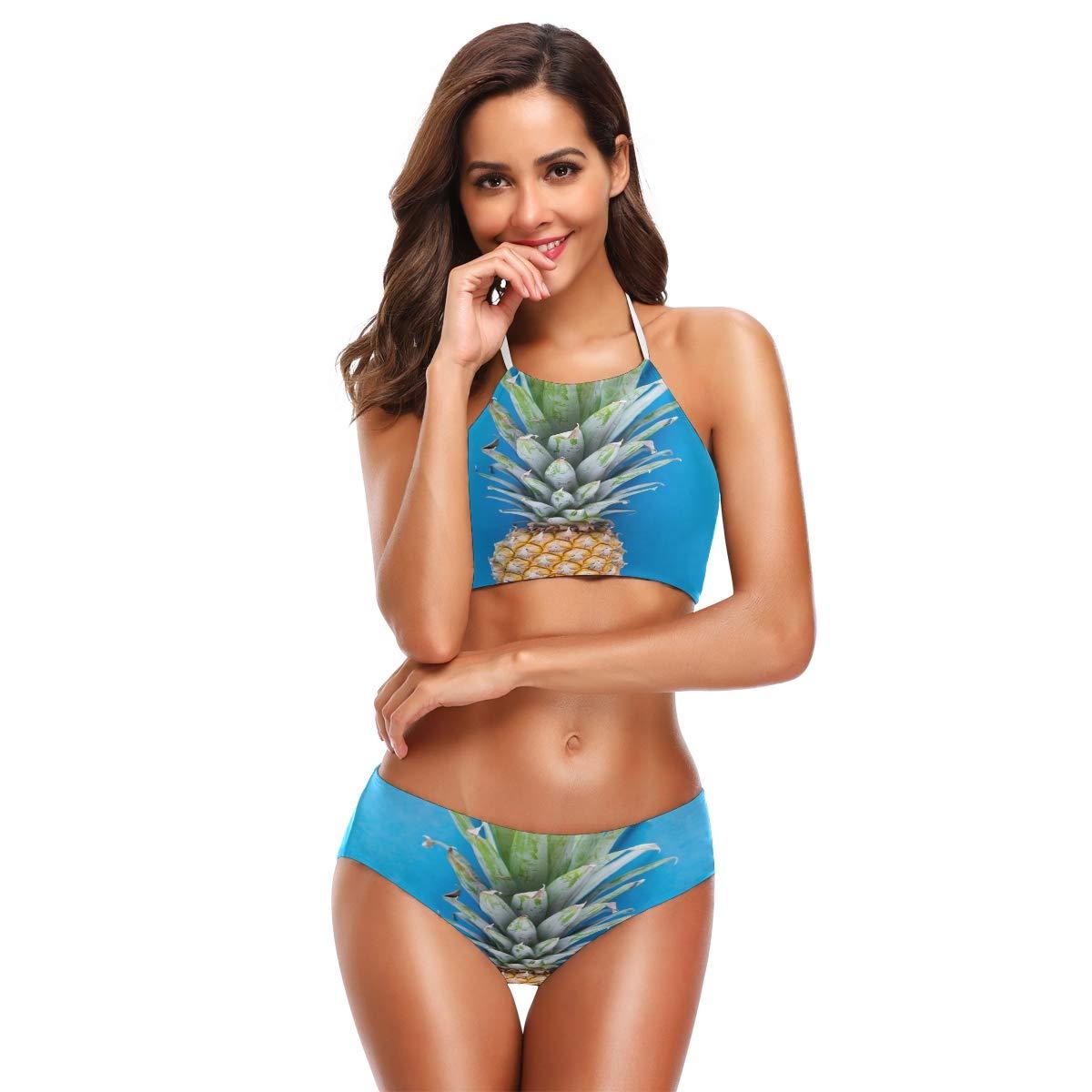 c8ffa0ade2 Amazon.com: All agree Womens Bikini Pineapple Two Piece Bathing Suits Girls  Swimsuits: Clothing