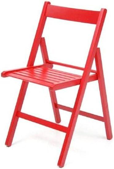 Sedie Colorate Fai Da Te.Sedia Pieghevole In Legno Colorata Naturale Rosso Amazon It
