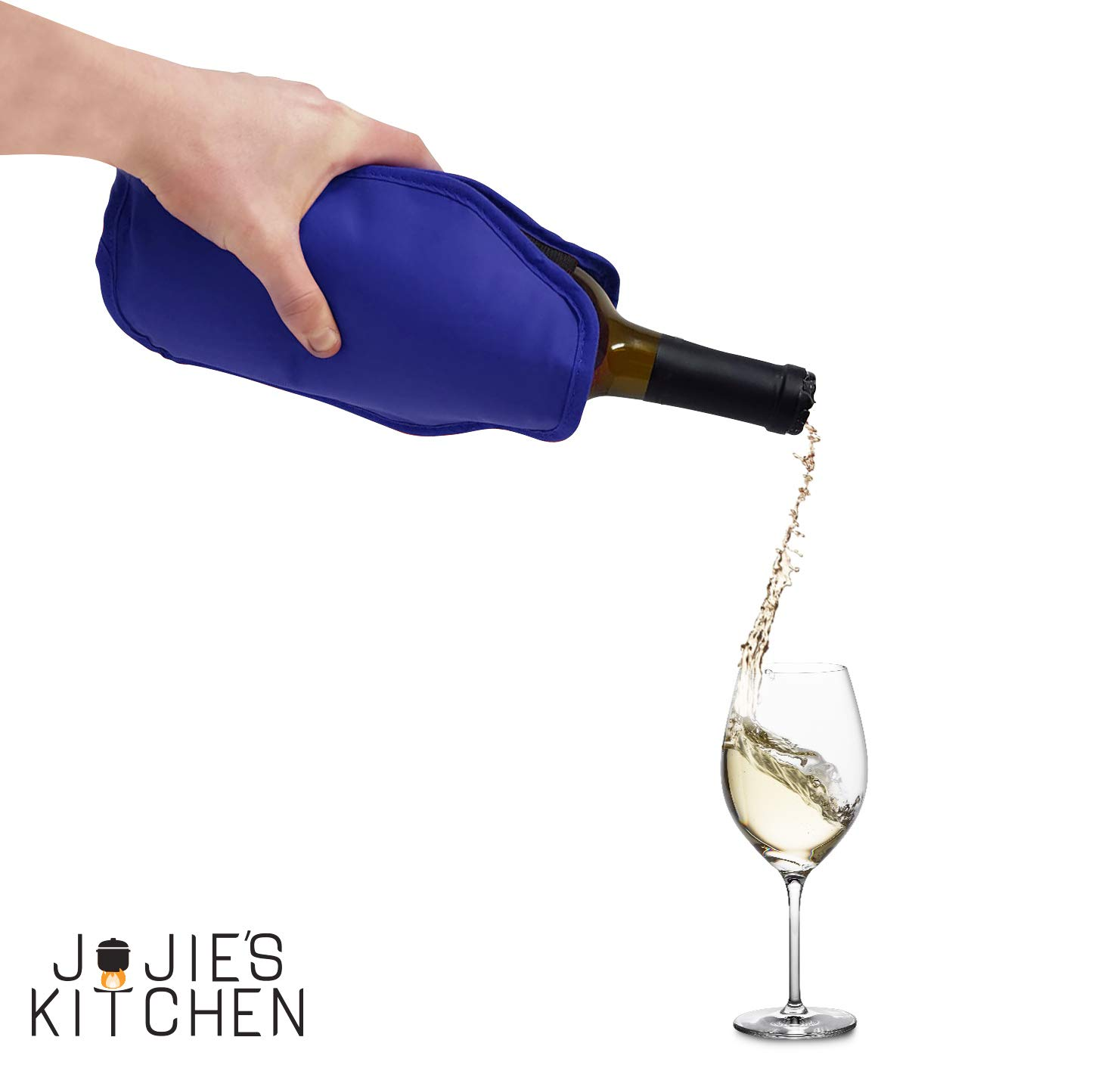 Ideal for Dinner Parties Events Perfect for Chilling Wine /& Champagne Bottles Joejis Kitchen Set of 2 Wine Cooler Sleeves Black /& Blue
