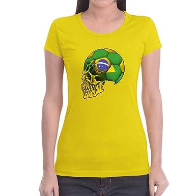 BRASILIEN FANSHIRT T-Shirt Damen S-XXL FUSSBALL WM 2018