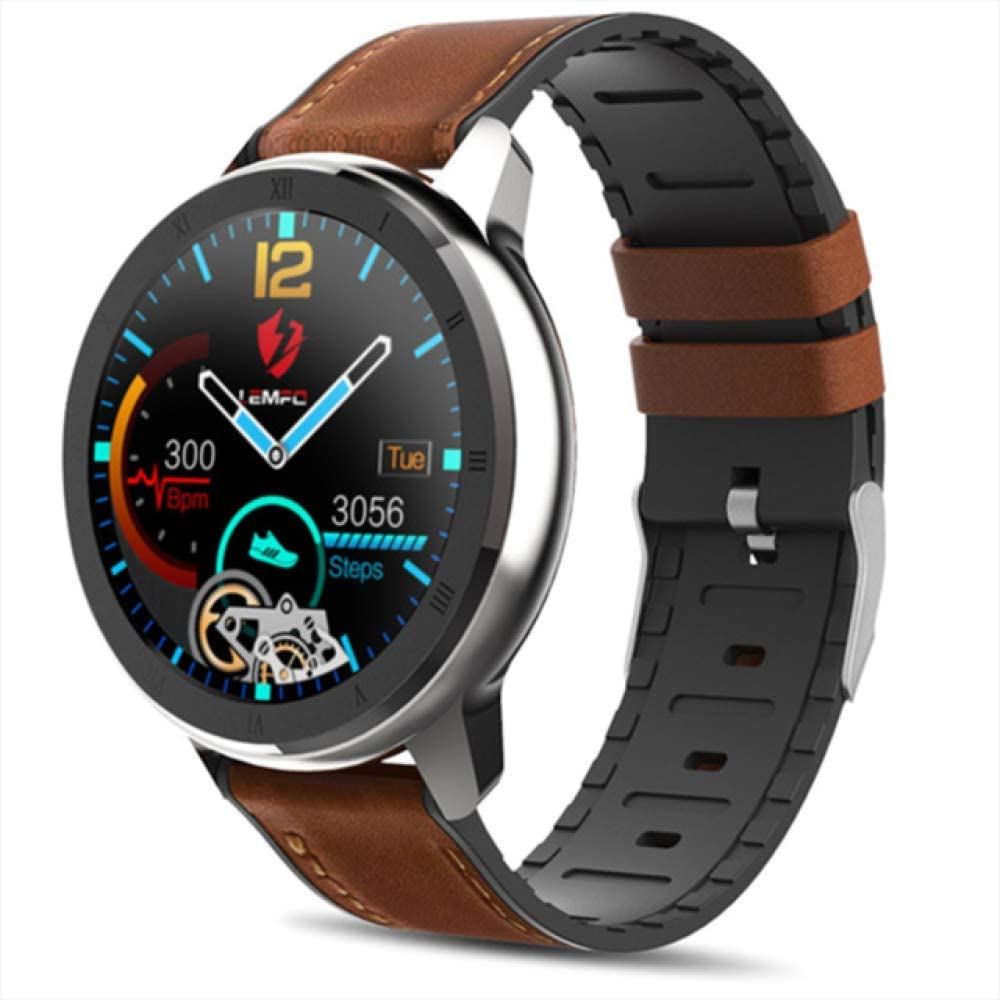 SJUTALR Relojes Deportivos,ECG Smart Watch Hombres Bluetooth Sport PPG Heart Rate Monitor Fitness Tracker Recordatorio de Llamada Mensaje Push Smartwatch Impermeable