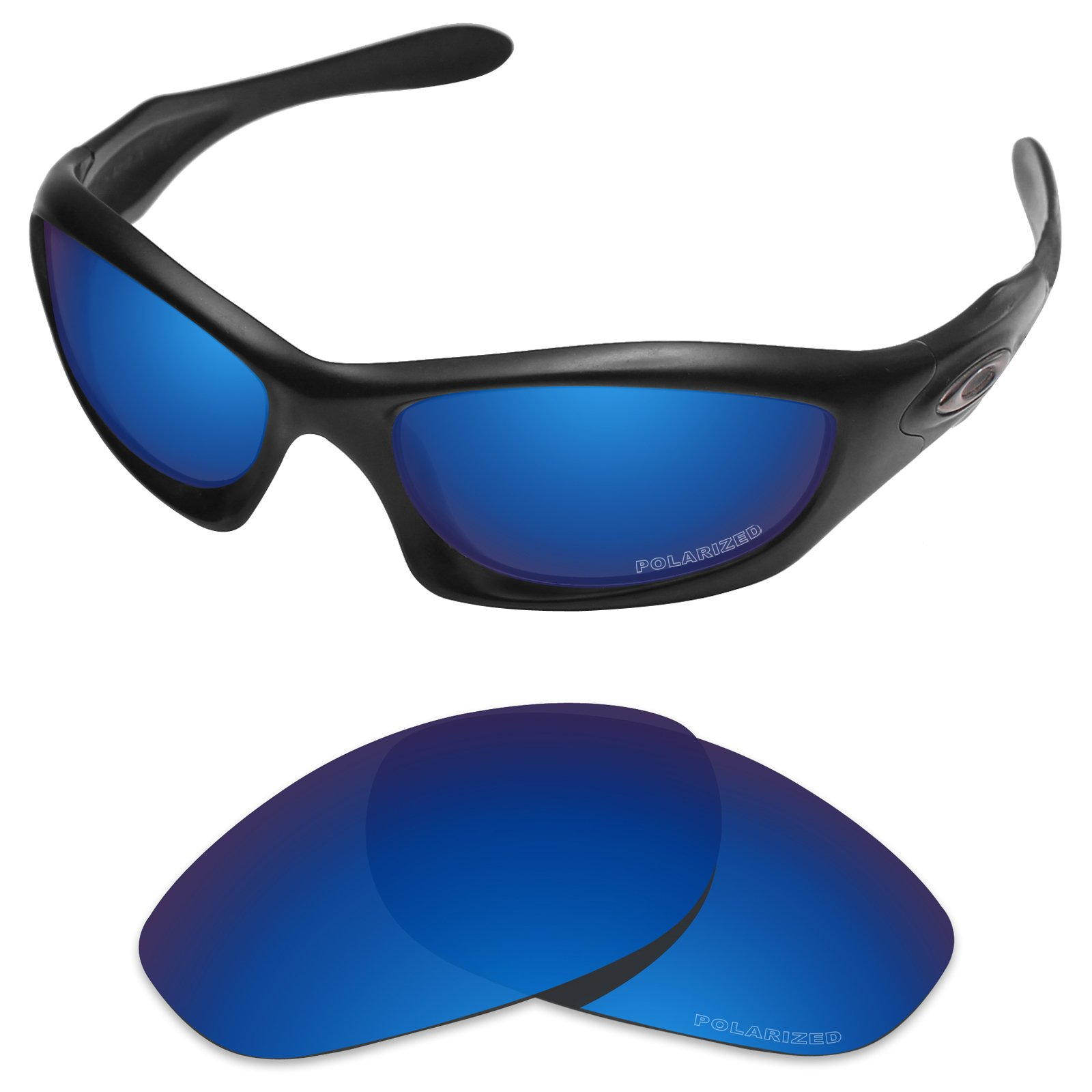 Tintart Performance Replacement Lenses for Oakley Monster Dog Sunglass Polarized Etched-Sapphire Blue by Tintart