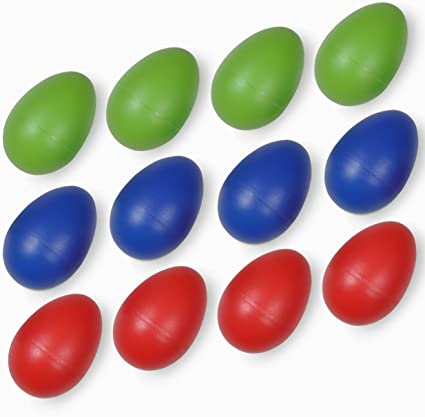 20Pcs Wooden Eggs Toys Music Shaker Instrument Rattle Gifts Colorful Maracas