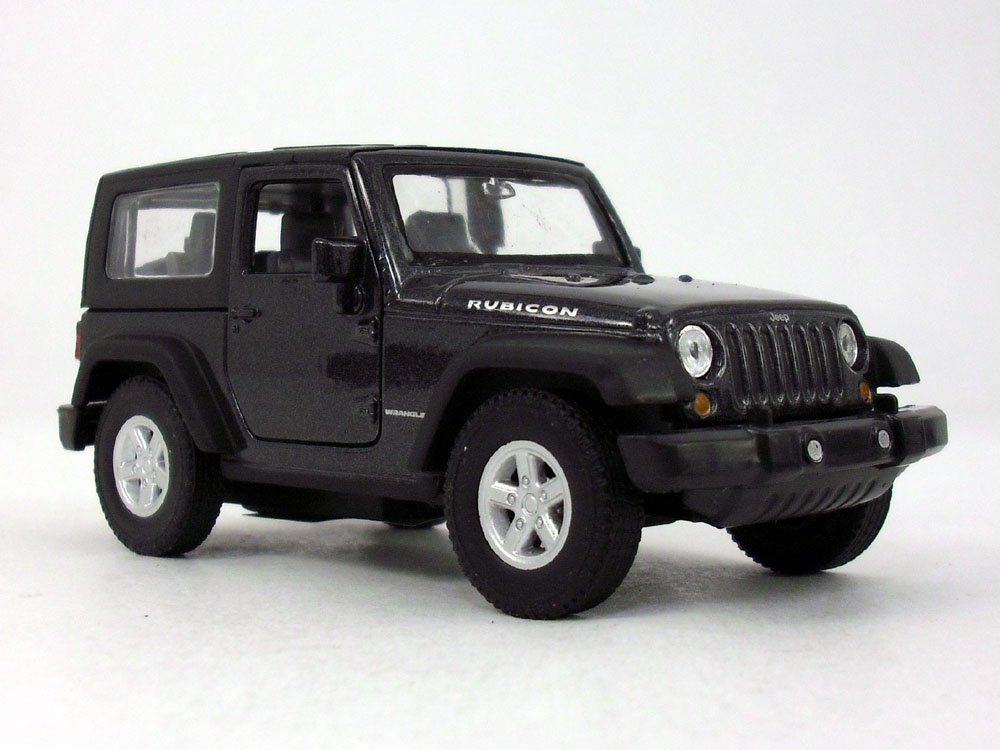 4.25 Inch Jeep Wrangler Rubicon Hard Top 1/32 Scale Diecast Model - BLACK