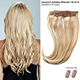Jessica's Golden Blonde Balayage (18+613) Clip in Hair Extensions - 100% Remy Human Hair by Estelle's Secret
