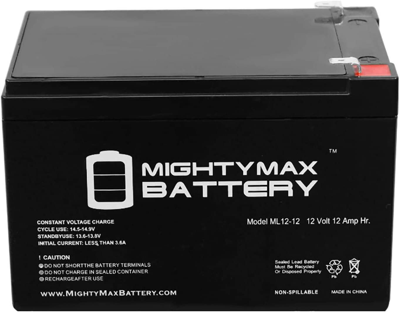 4 Pack Brand Product SUV650 Mighty Max Battery 12V 12Ah F2 Replaces APC Smart-UPS SU650VS SUVS650I