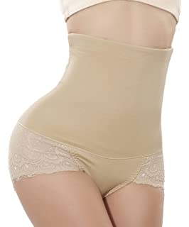 a681a9c49 Bingrong Women s High Waist Cincher Trainer Tummy Control Lace Seamless Panties  Butt Lifter Hourglass Body Shaper