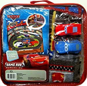 Amazon Com Disney Pixar Cars Racing Arena Game Rug With 2