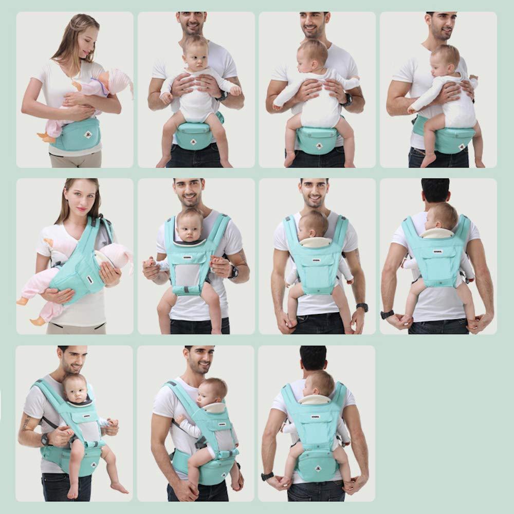 Rufun Baby Carrier Hip Seat Ergonomic Storage Box for Newborn Front and Back Breastfeeding Handsfree 0-48 Months up to 25kg