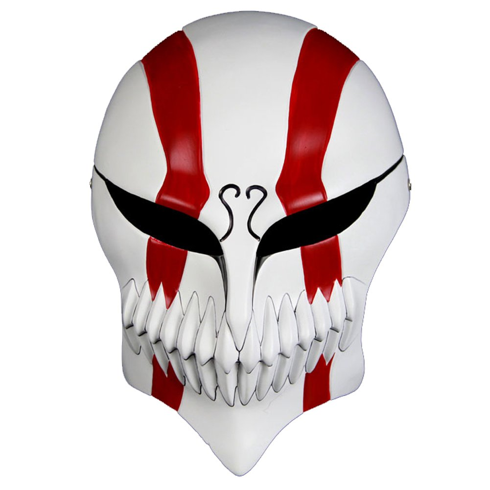 cosplaywho Bleach Ichigo Full Hollow Mask Venetian Mardi Super Halloween Mask (Red) by cosplaywho