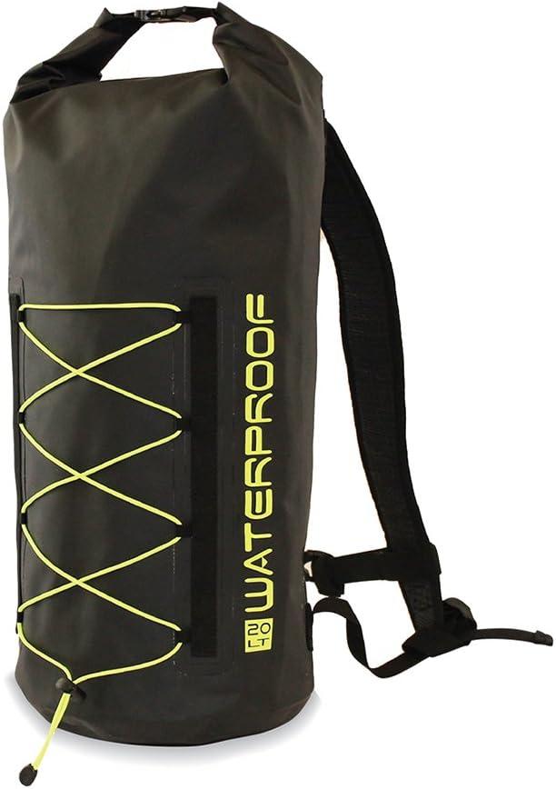 K3 Pursuit Waterproof Dry Bag Backpack Black/Lime 20 Liter