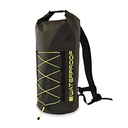 b6e2d409e2 Image Unavailable. Image not available for. Color  K3 Pursuit Waterproof  Dry Bag Backpack Black Lime 20 Liter