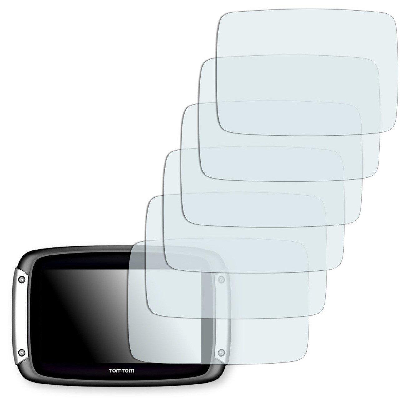 6 x protectores pantalla Golebo para TomTom Rider 410 L/ámina protectora adhesiva invisible Crystal Clear Fabricado en Alemania.