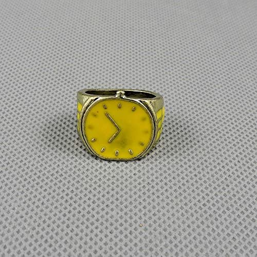 1 PCS Jewelry Fashion Charms Finger Ring 02823 Yellow Cute Watch