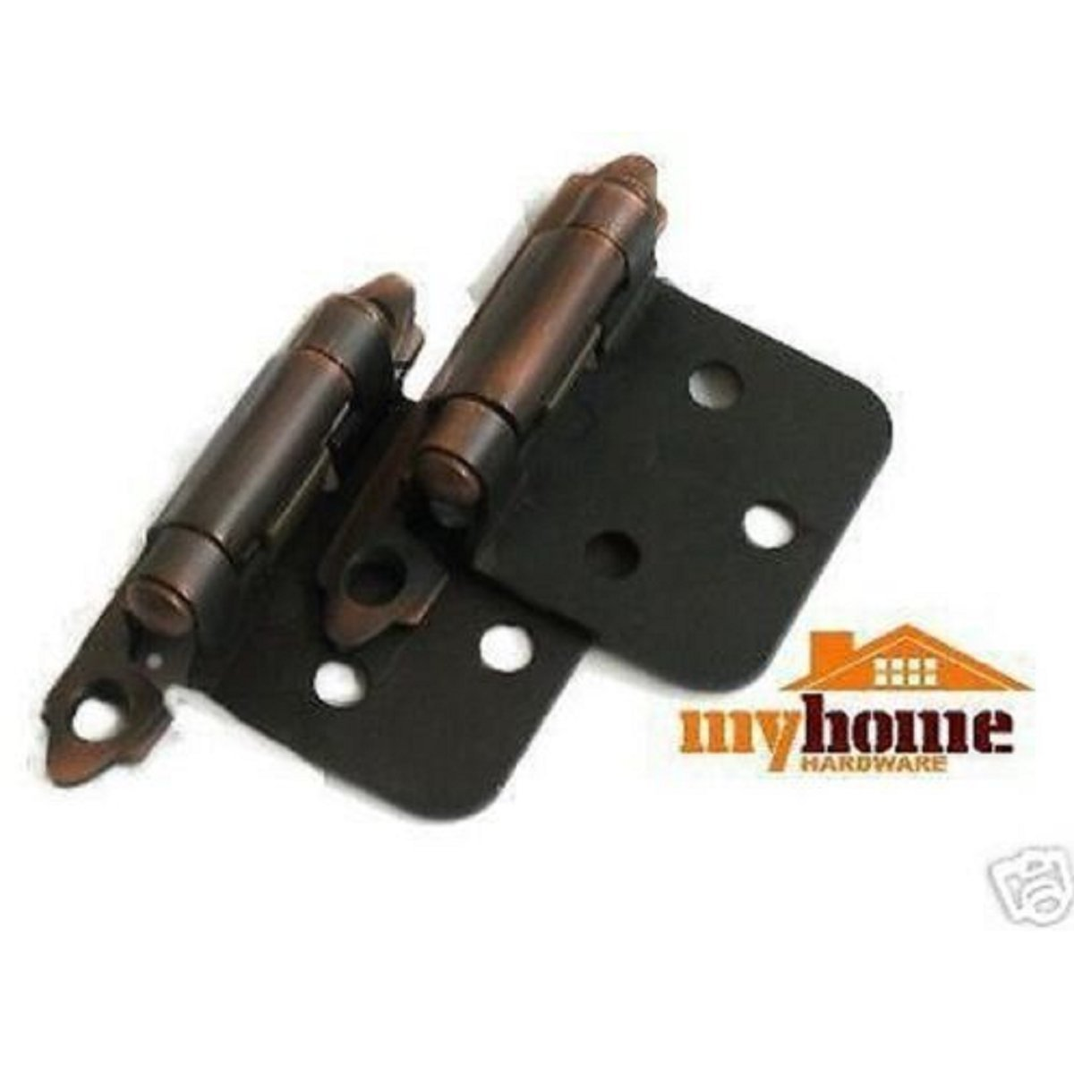 USA Premium Store Cabinet Door Flush Hinges Brushed Oil Rubbed Bronze Hinge 25 pair (50 pieces)