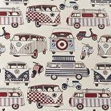 VW Classic Camper Van Oilcloth Wipe Clean Tablecloth Tablecloth 130cm x 220cm (51 x 87) Long by Jolee Tablecloths