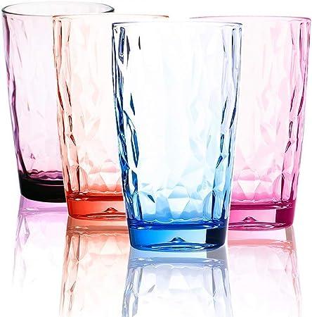 Plastic Tumblers Reusable Set Of 4 Cykk Coloured Drinking Glasses Plastic Acrylic 16 Oz Plastic Drinkware Set Camping Glasses Picnic Cups Plastic Tumblers For Adults Dishwasher Safe Bpa Free 1 Amazon Co Uk Kitchen