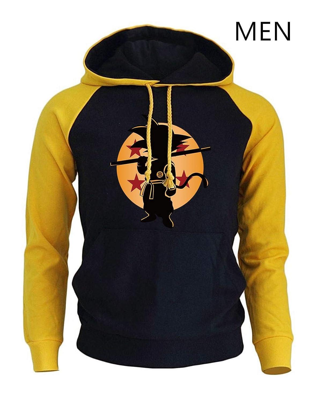 FLAMINGO_STORE Anime Hoodies Clothing Super Saiyan Sweatshirts Men Sportswear Hoody Sweatshirt at Amazon Mens Clothing store: