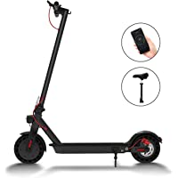 """Hiboy S2 Electric Scooter - 8.5"""" Solid Tires - Up to 17 Miles & 18.6 MPH Portable Folding Commuting Scooter for Adults with Double Braking System, Rear Suspension and App"""