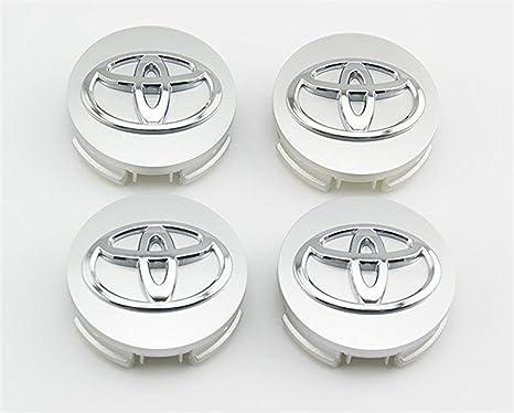 shangmao369 Juego de 4 tapacubos para Toyota de 62 mm de diámetro exterior, color plateado: Amazon.es: Coche y moto