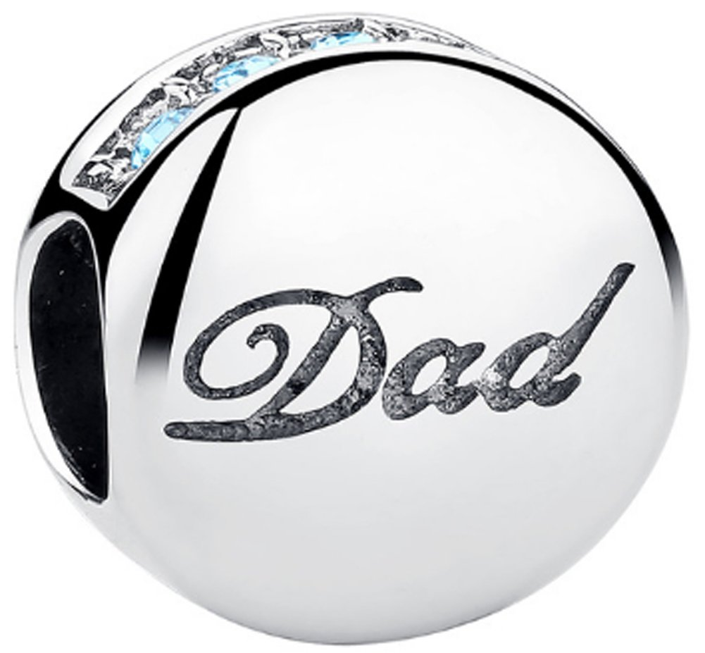 SaySure - 925 Sterling Silver Dad Charm Beads Fit Original