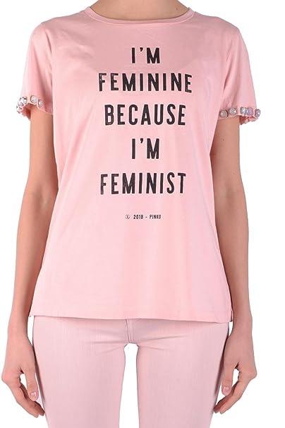 Pinko T-Shirt L in Pink  Amazon.it  Abbigliamento fc270998c1c