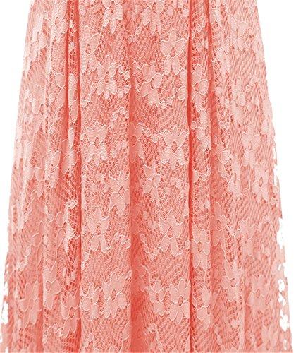 dentelle Asymtrique low pin Rose bal robe Audrey 1950's jupe d'honneur une ceinture up YOGLY soire demoiselle cocktail Retro Hepburn high de Vintage avec qXUOZwT