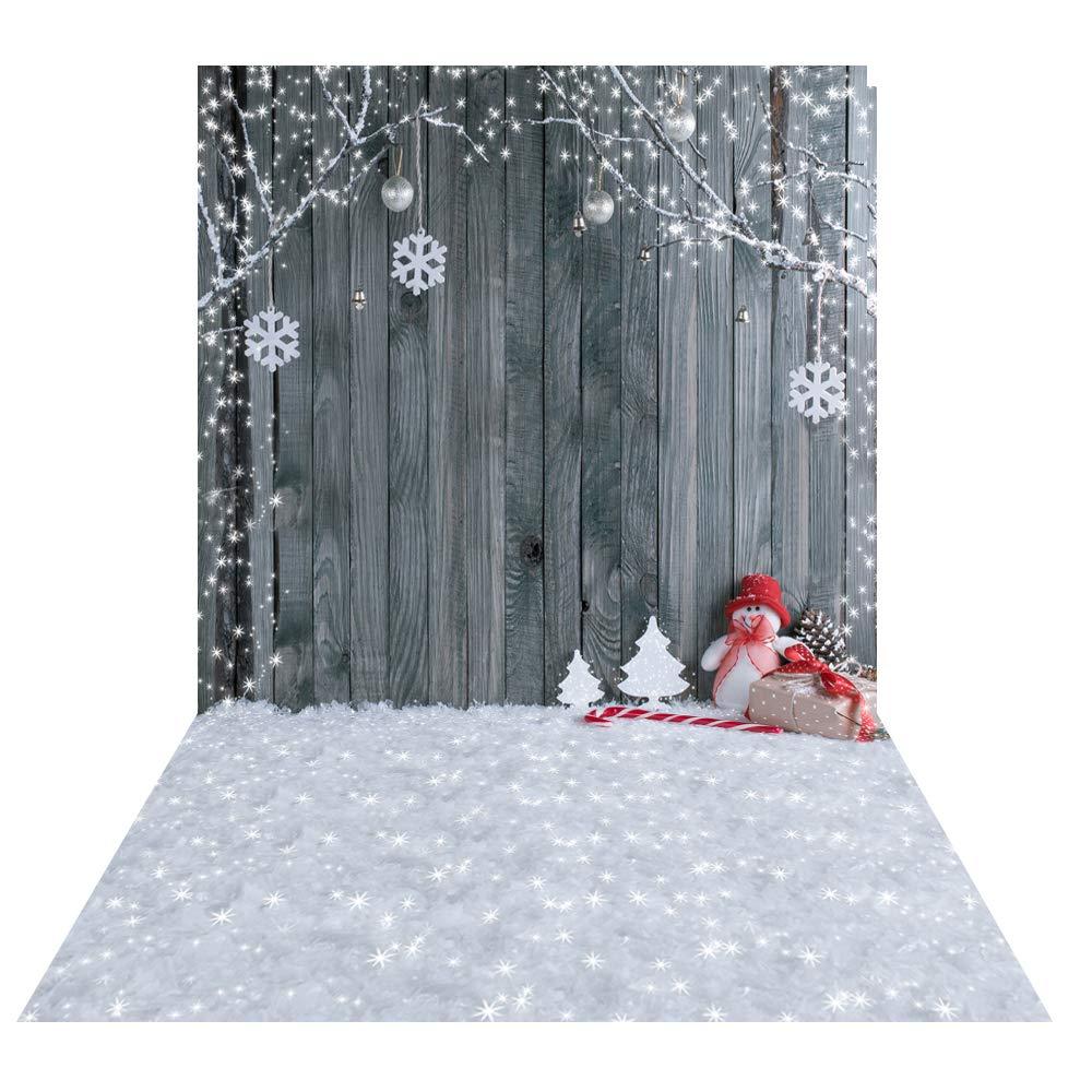 Huayi Winter Wonderland Backdrop Christmas Pine Trees Snowflake
