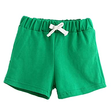 d489453be0 wuayi Kids Toddler Boys Girls Solid Color Cotton Summer Hot Pants ...