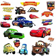RoomMates RMK1520SCS Disney Pixar Cars Piston Cup Champs Peel and Stick Wall Decal