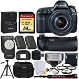 Canon EOS 5D Mark IV DSLR Camera + EF 24-105mm f/4L IS II USM Lens +Battery Grip + 64GB Memory Card + Canon Battery LP-E6N + Camera Case + Quality Tripod + TTL Flash + Full Frame Accessory Bundle