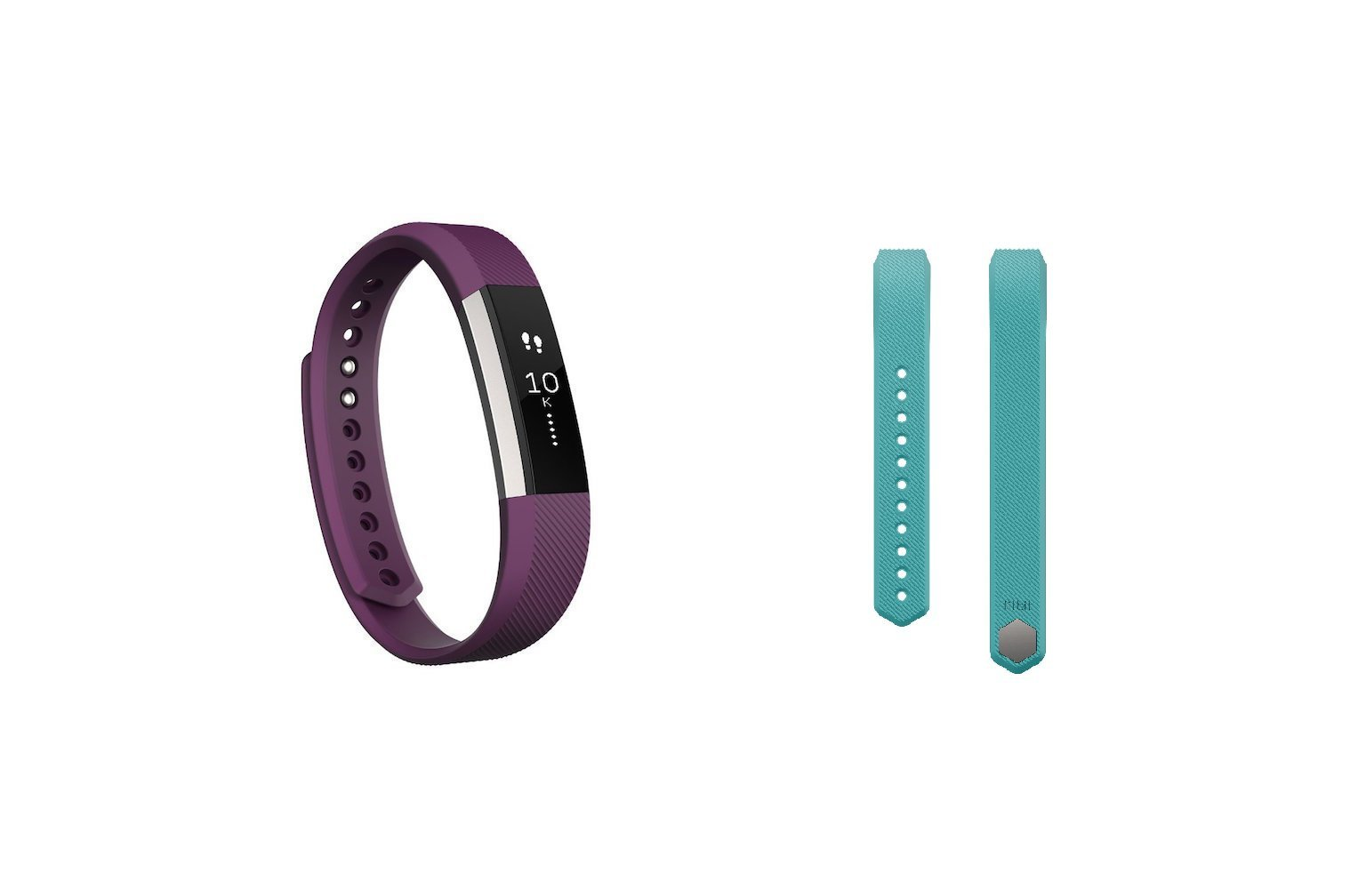 Fitbit Alta (Plum, Large) + Accessory Band (Teal, Large)