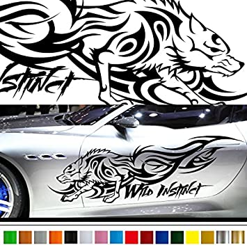 Amazoncom Wolf Car Sticker Car Vinyl Side Graphics Car - Custom stickers and decals