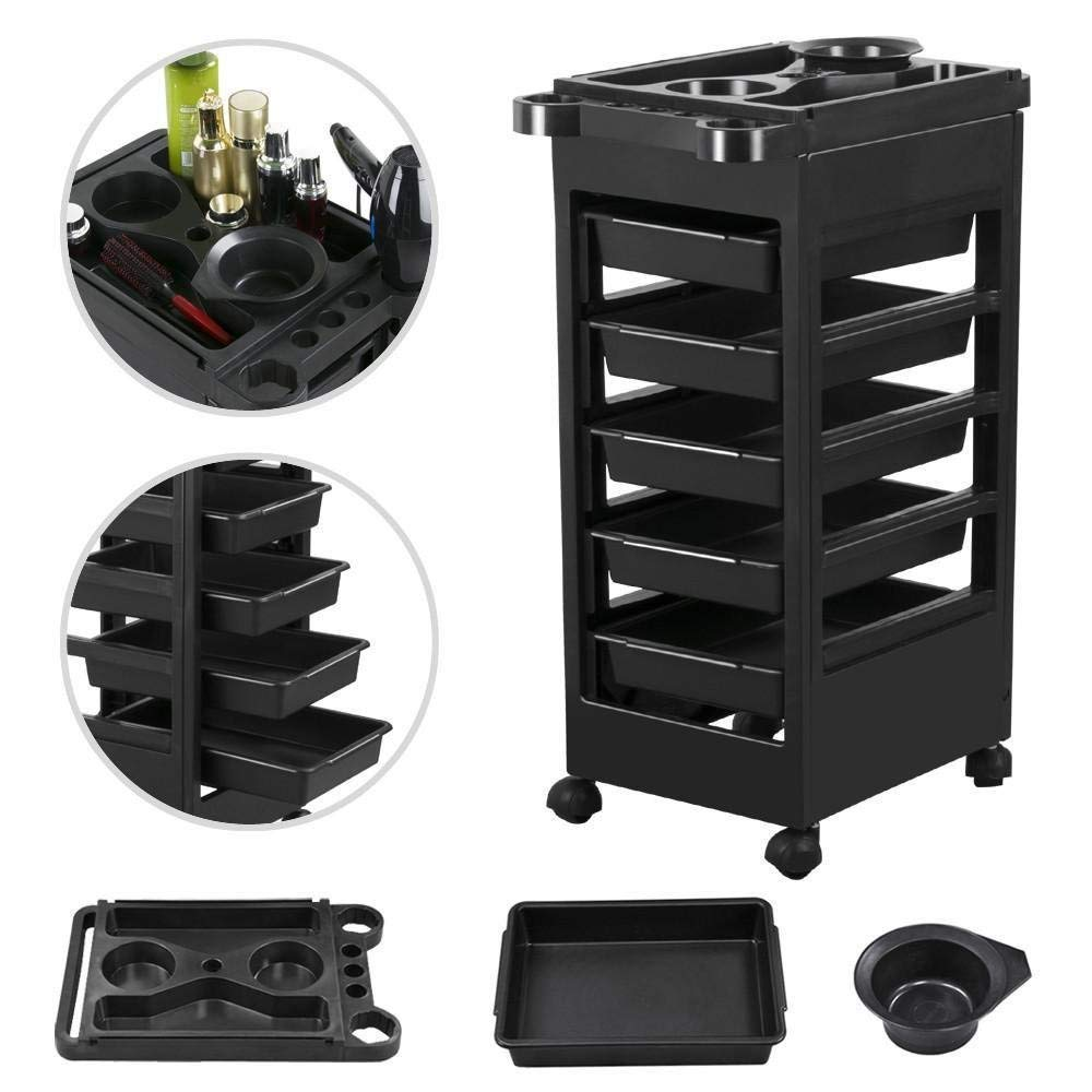 Checknow Salon Hairdresser Barber Beauty Storage Trolley Hair Drawers Roller Cart Spa NEW Popamazing