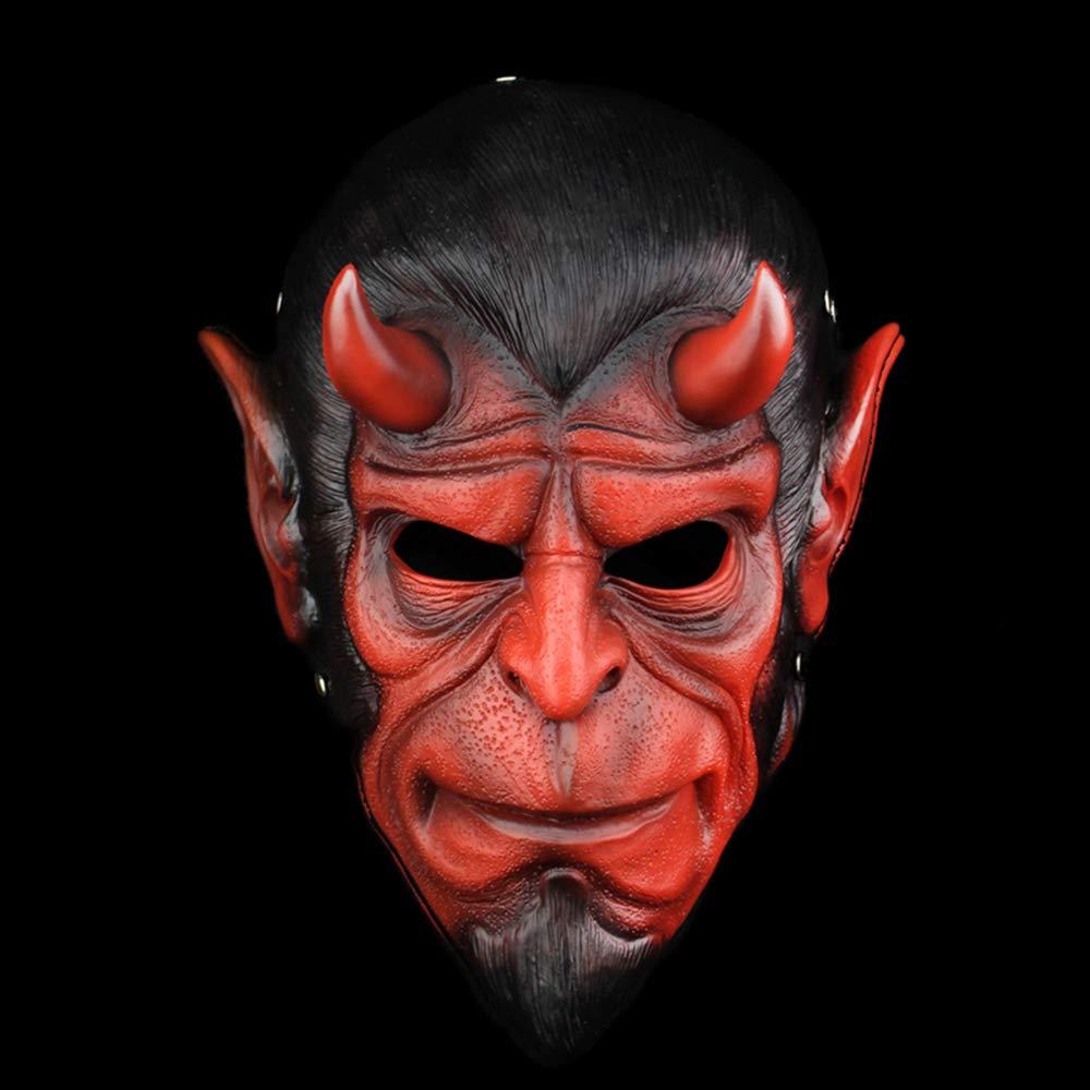 DASENLIN Maschera, Maschera Orrore di Halloween, Hell Baron Maschera Tema, Vestire Maschera in Resina Ballerina, Dimensione  31  22,5 Cm