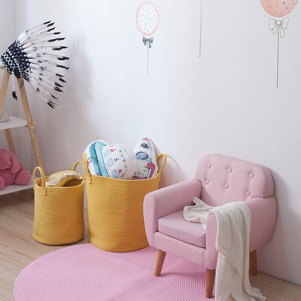 diam/ètre panier /à linge et coffre-couches avec poign/ées petit 35 cm rose Jessedaa coton tiss/é corde jouet sac de rangement x 30 haut