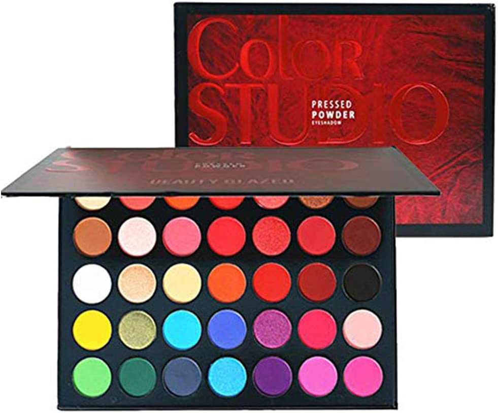 Beauty Glazed Nuevo 35 Color Maquillaje Paleta de Sombra de Ojos Shimmer Mate Pigmentado de Larga Duración Maquillaje Paleta de Sombra de Ojos Cosméticos