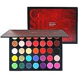 Paleta de sombras de ojos Paleta de maquillaje, tonos de color perfectamente combinables, mate, texturas luminosas y…