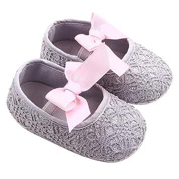 f97475735b9fe GOTD Glitter Baby Shoes Sneaker Anti-slip Soft Sole Toddler Prewalker (US  4, 12~18 Month , Gray )
