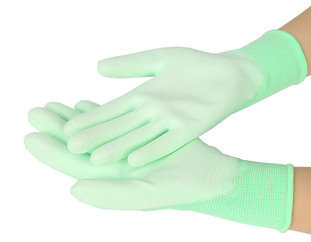 Chytaii Gardening Gloves Garden Gloves PU Leather Gardening Gloves Breatheable Non-Slip Work Gloves for Garden and Household Tasks