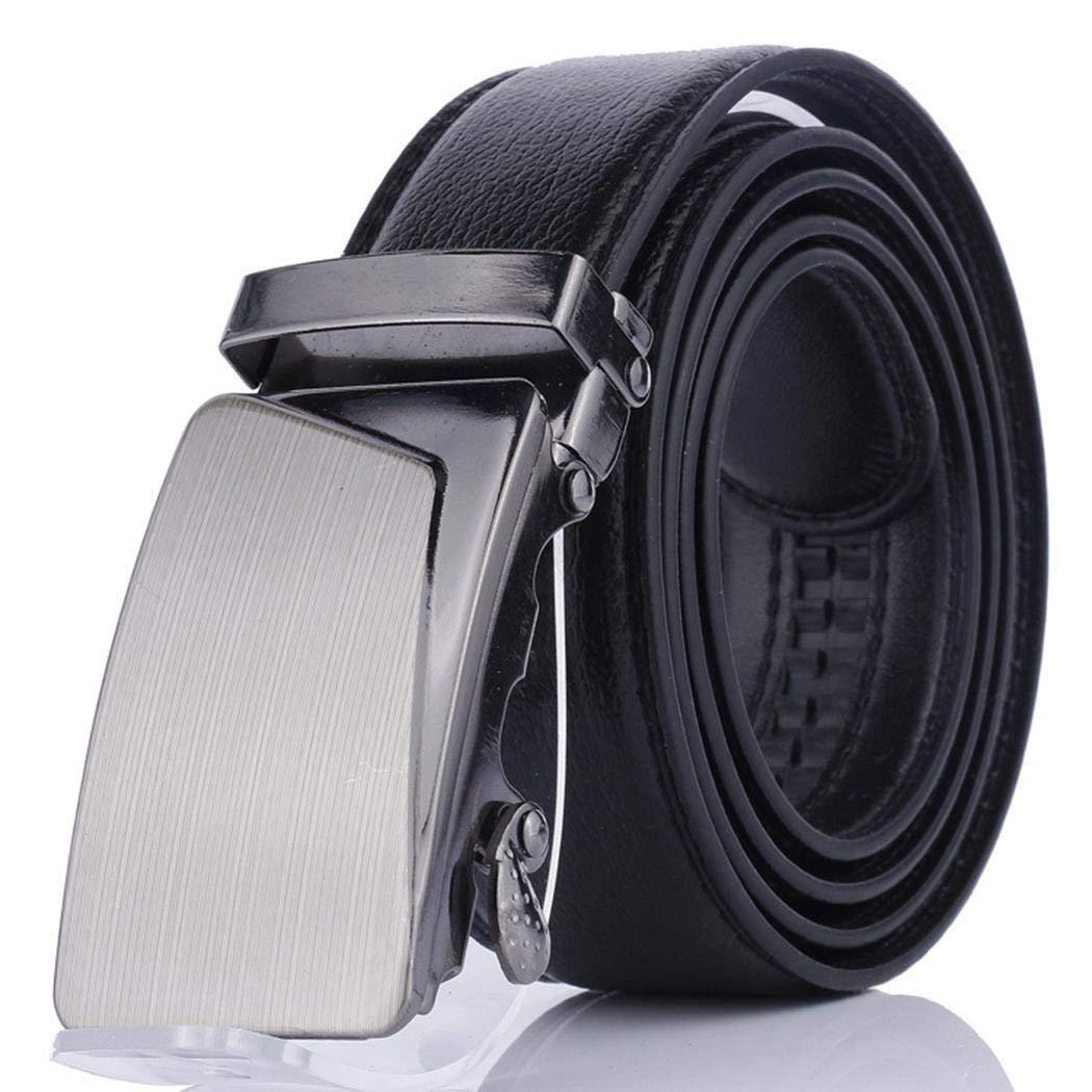 Eroihe Cintur/ón Hombre Cuero Sintetico Hebilla Autom/ática Cintur/ón para Pantalones