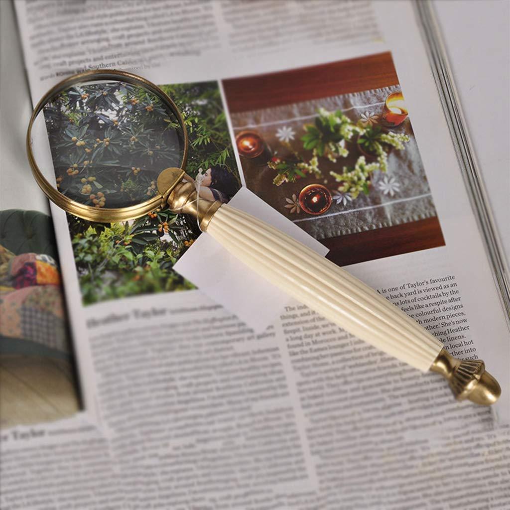 Retro Retro Retro Kupfer Lupe Hand 10 mal reines Kupfer Ochsenknochen Hand Konto, um die älteren Menschen zu senden, um die europäische Studie Desktop Dekoration zu lesen 40e51d
